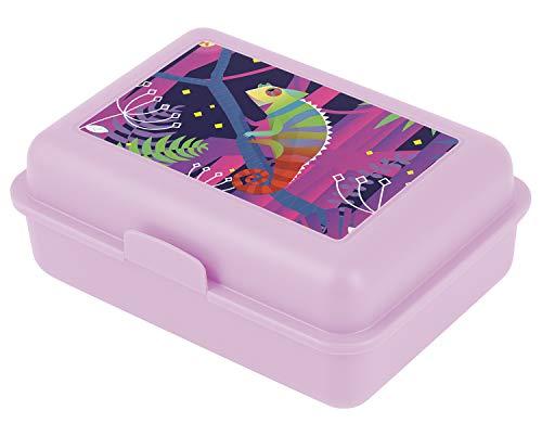 Brotdose Kinder für Schule – Lunchbox für Mädchen, Kindergarten – Jausenbox, Brotzeitbox, Brotbox, Snackbox (Chamäleon)