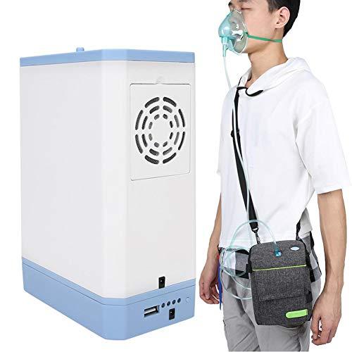 QIYE Tragbarer Sauerstoffkonzentrator, Oxygen Generator, Heimsauerstoff-Maschine, Einstellbare tragbare Sauerstoffmaschine für zu Hause und auf Reisen
