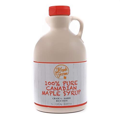 Ahornsirup Grad A - Amber - 1 Liter (1,32 Kg) - ahornsirup Kanada - pancake sirup - ahorn sirup - kanadischer ahornsirup - pure maple syrup - reiner ahornsirup - maple syrup