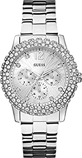 Guess Women's Silver Dial Stainless Steel Band Watch [W0335L1]