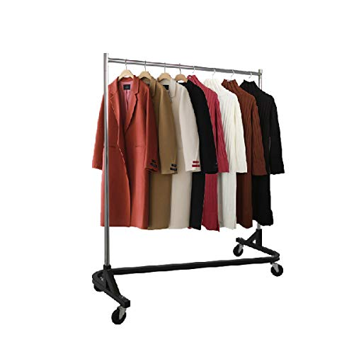Knock Down Rack – Rolling Garment Rack for Home, Retail...