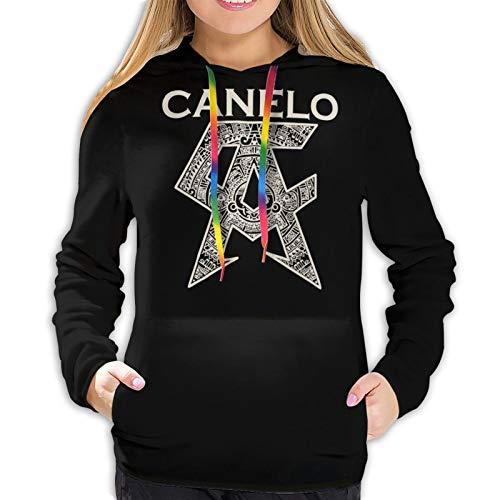 anYanZiBaiH Canelo Alvarez Printed Damen Hoodie Schwarz XXL