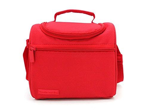 Leyendas Bolsa Térmica Porta Alimentos Comida Almuerzo Oferta Color Liso o con Dibujo 6 litros (Rojo)