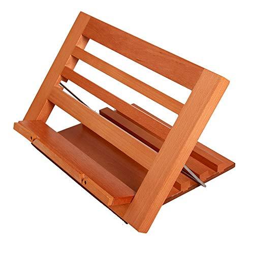 Liuxiaomiao boekenhouder houten groot vouwboekenstandaard plat IPad standaard voor kookboeken, muziekdocumenten