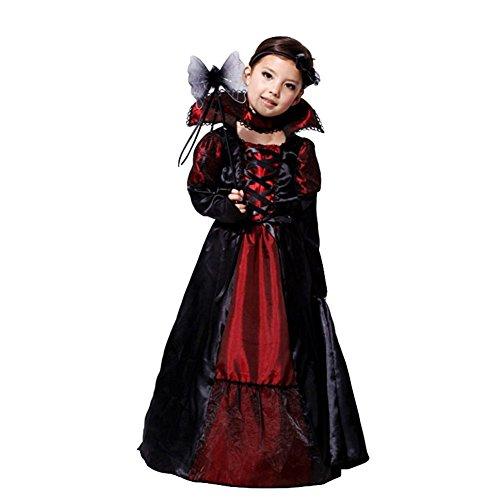 Jt-Amigo Disfraz de Reina Vampiresa Para Niñas, 6-7 Años