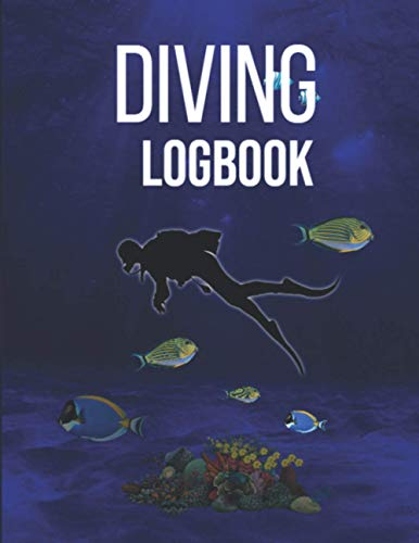 Diving Logbook: journal Notebook Men Women KIds Gift   Track & Record 110 Dives 6x9 Inches   ssi dive log refill pages   guide to naval writing   Diary Ocean Lover Underwater World