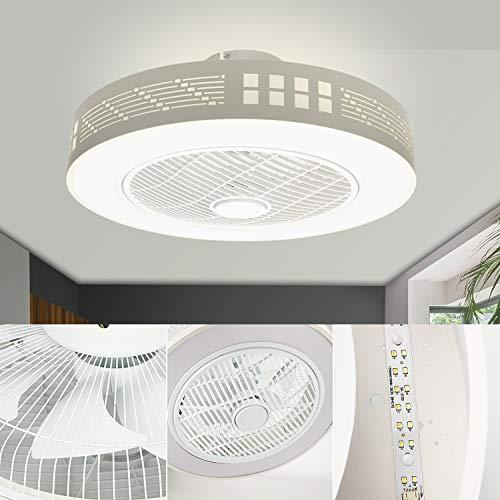 LEDMO Ventilatore a Soffitto con Lampada, Ventilatore da soffitto Moderno creatività con...