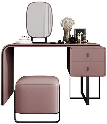 HLZY Vanity Scrivania per camera da letto Home Decor Nordic Ecologica Mobili Toeletta Rosso Cosmetici Armadietto per camera da letto famiglia (colore 1, dimensioni: 100 cm)