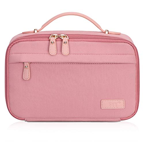 FYY Travel Toiletry Bag for Women and Men, Large Capacity Cosmetic Bag Makeup Toiletries Kit Zippered Organizer Bag with Top Handle Pink