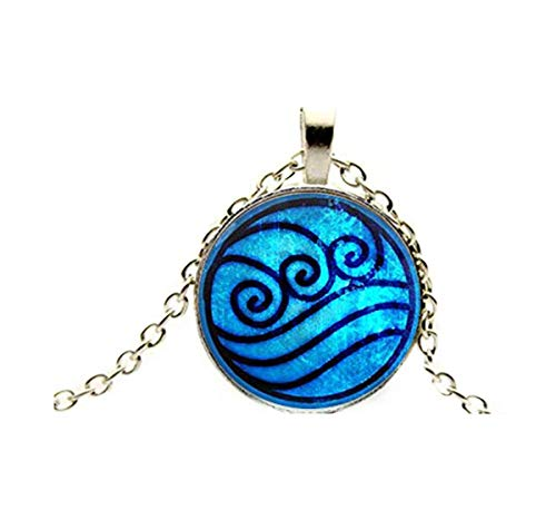 Sunshine Retro Blue Water Tribe Necklace Water Waves Necklace Pendant Jewelry