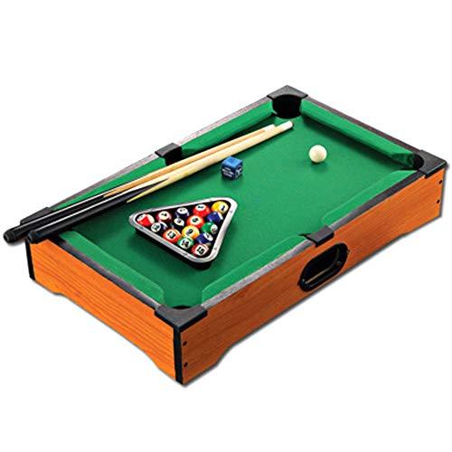 Tragbarer Billardtisch für Kinder - Mini Kids Billard Tisch mit 16 Bällen/Spielball / 2X Queues, Snooker Table Interaktives Spiel