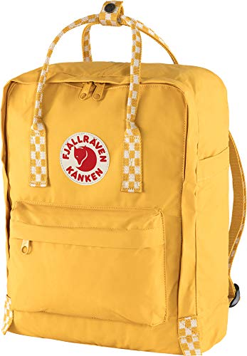 Fjallraven, Kanken Classic Backpack for Everyday, Ochre-Chess Pattern