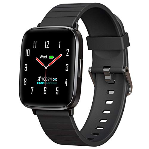Mgaolo Fitness TrackerSmart Watch with Blood Pressure Heart Rate Sleep Monitor for Men and Women Touchscreen Sport Modes Waterproof Activity Tracker with Pedometer for Fitbit Android iPhone Black