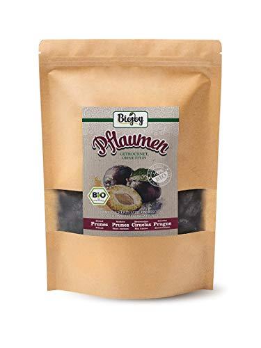 Biojoy Ciruelas secas BÍO, frutas enteras – sin hueso, sin azufre y sin azúcar (1 kg)