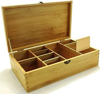 wooden compartment storage box
