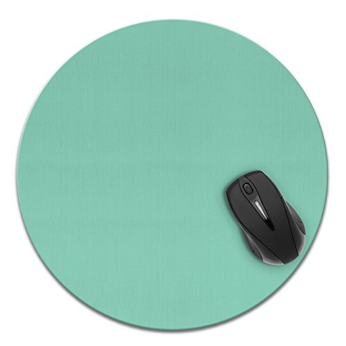 Super Size Round Mousepad, FINCIBO Large Mouse Pad for Home, Office and Gaming Desk, Solid Mint Green