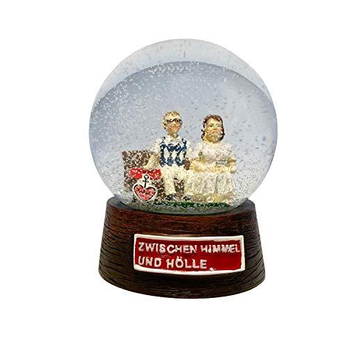 ASTRA Bier Schneekugel Schüttelkugel Glaskugel Traumkugel Zwischen Himmel und Hölle, Polyresin 8cm Durchmesser, Geschenkidee aus St.Pauli