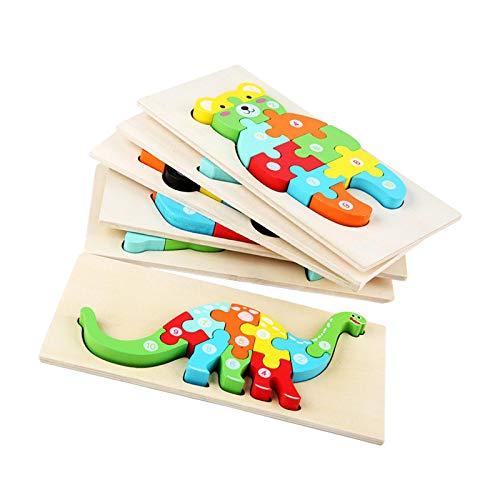 Zarome D Animal Puzzles De Madera para Bebé Infantiles Puzzles De Madera Juguetes Montessori Juguete Educativo Regalo para 1 2 3 4 5 Años Niños Niñas 215x107x35cm Proficient