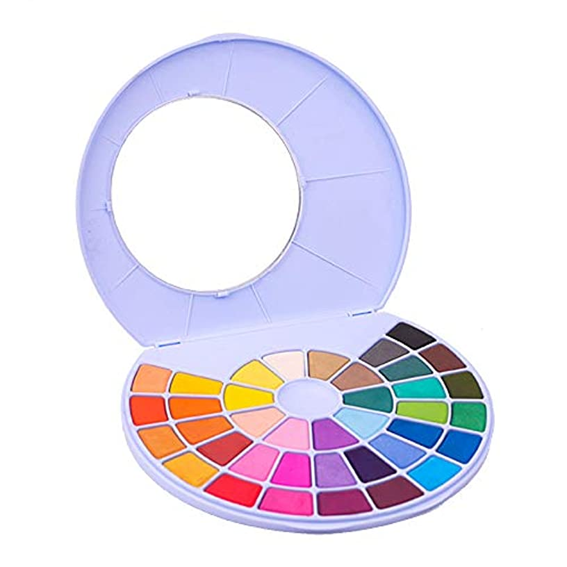 MIYA HIMI Water Colors Palette - 24/38 Assorted Colors for Beginners Artists Students Kids Easy to Blend Colors (Blue, 38)