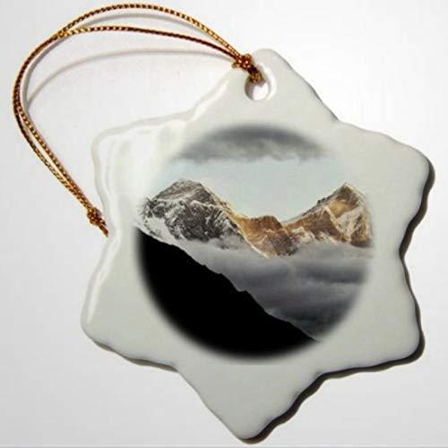 BYRON HOYLE Nepal Sagarmatha NP Mt Everest Lotse And Nuptse RER Snowflake Ornament Pandemic Xmas Decor Wedding Ornament Holiday Present