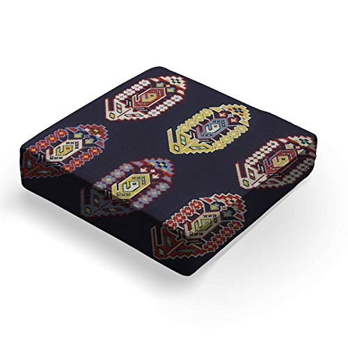 """Set of colorful traditional mosaic patterns for oriental carpetsOutdoor Indoor Seat Cushion Patio Deep Seating Lounge Chair Conversation Cushion Large Size Replacement for Furniture - 25""""x25""""x5"""""""