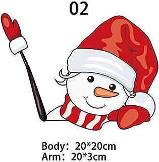 JUNRON Christmas Decoration Santa Claus 3D PVC Waving Car Stickers Styling, Christmas Outdoor Decorations - Christmas Yard Decorations, Lollipop Christmas Decoration, Workshop Decor