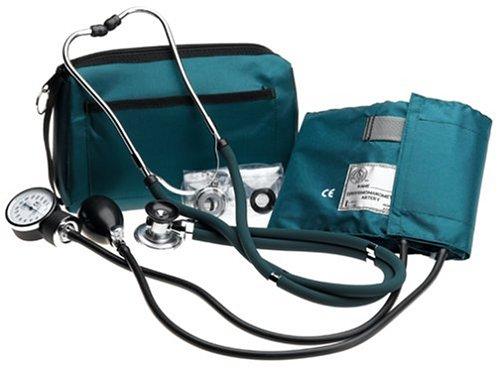 NCD Medical/Prestige Medical Set mit Aneroid-Manometer und Doppelkopf-Stethoskop, Jagdgrün