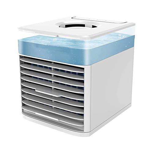 Acondicionador De Aire PequeñO,Ventilador Aire Acondicionado Portatil,Humidificador, Ventilador De Escritorio,para El Hogar Y La Oficina,Acondicionado PequeñO Air Cooler