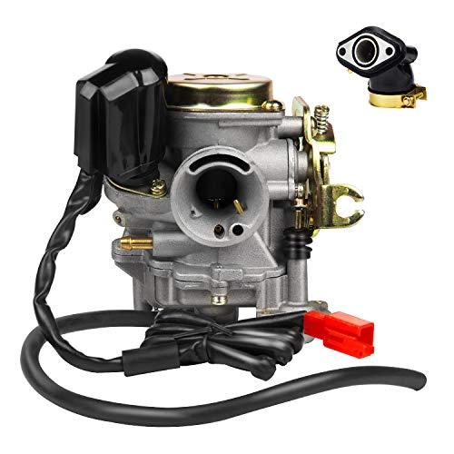 EXLECO 18mm Vergaser Motorräder Vergasaranlagen für Rex RS 400 / RS 450 / RS 460 /GY6 50cc E-Choke/ GY6 60cc