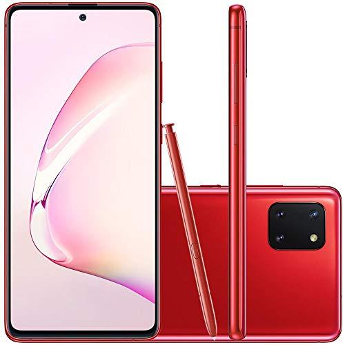 Celular Samsung Galaxy Note 10 Lite Vermelho 6Gb 128Gb Caneta S Pen Câmera 12Mp+12Mp+12Mp
