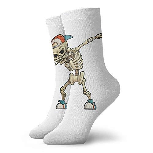 LLeaf Calcetines deportivos para hombre Calcetines deportivos de poliéster Dabbing Skeleton Calcetines para correr Calcetines de entrenamiento para hombres y mujeres