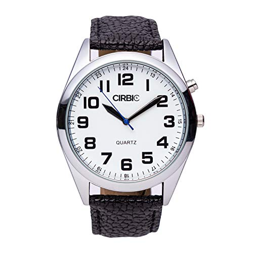 Big and Clear Voice Talking Watch for Blind, Visually impaired or Elderly. (Black)