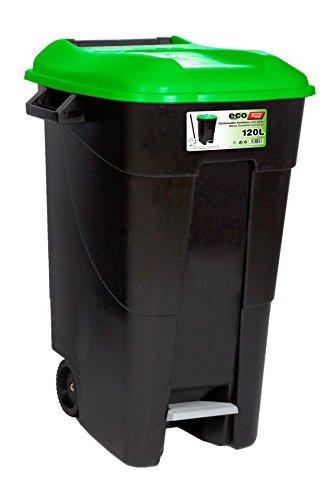 Tayg EcoTayg 120 - Contenedor de residuos con pedal, Verde, 120 l