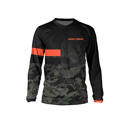 UGLY FROG Designs Adulto Bike Wear Cycling Sports Ciclismo MTB Magliette Uomo Downhill/Motorcycle Jersey Mountain Bike Shirt Manica Lunga
