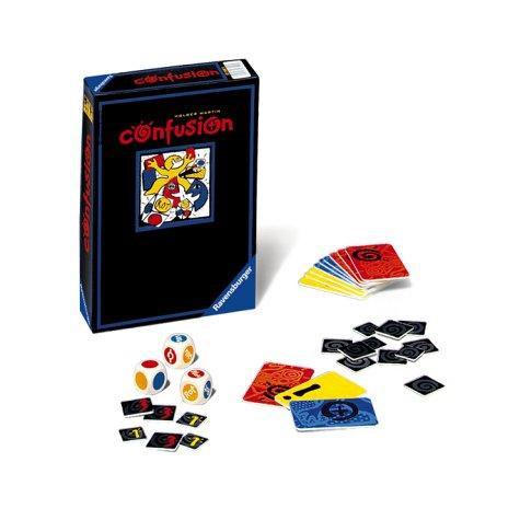 Confusion. Reaktionsspiel. Für 2 - 5 Spieler ab 10 Jahren. Spieldauer: 15 Minuten.