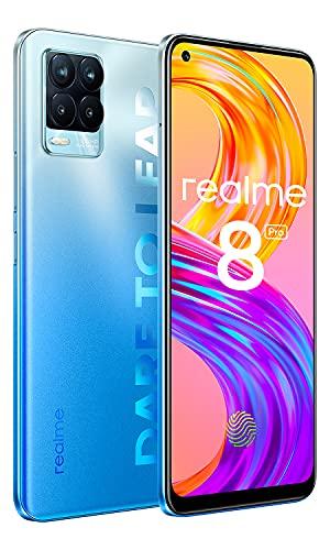 NARZO 8 Pro Smartphone 8+128GB, 108MP Quad-Kamera Simlockfreie Handys,180Hz 6.4 Zoll AMOLED Display Android Mobile Phone, 4500mah Akku 50W Schnellladung Dual SIM NFC (Blau)