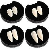 Boao 8 Paires de Dents de Vampire Faux Canines Faux Canines Costume Faux Dentier pour Accessoires de Cosplay de Fête Halloween Cadeaux Halloween