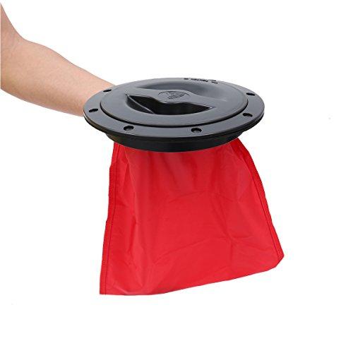 VORCOOL Tapa De Escotilla del ABS con Bolsa Roja para Barco del Kajak 6 Pulgadas (Negro)