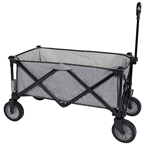 PORTAL Collapsible Wagon Cart Utility Foldable Wagon with Rolling Wheels Outdoor...
