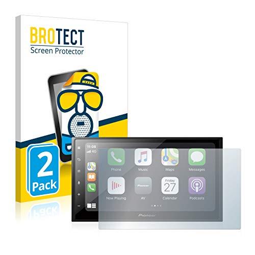 BROTECT 2X Entspiegelungs-Schutzfolie kompatibel mit Pioneer SPH-DA250DAB Bildschirmschutz-Folie Matt, Anti-Reflex, Anti-Fingerprint