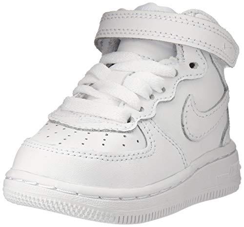 Nike NIKE Force 1 Mid Td 314197 113 Unisex - Kinder Sportschuhe, Bianco (White/White-White), 25 EU