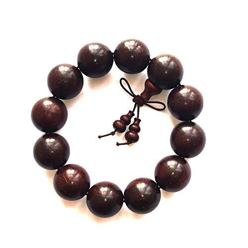 High Density Full of Stars red Sandalwood Wooden Beads Bracelets Buddha Pearl Prayer Beads (20mm)