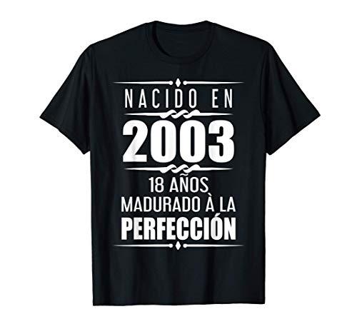 18 años Regalos Chica Chico 18 Cumpleaños Camiseta