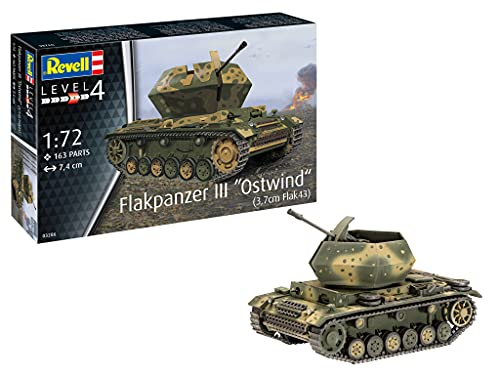 Revell REV-03286 Flakpanzer III Ostwind (3,7cm Flak 43), 1:72 Toys, farbig