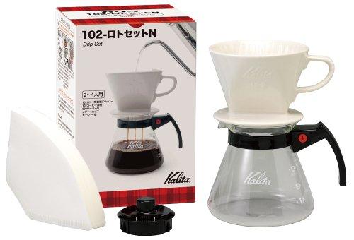 カリタ Kalita コーヒー ドリップセット 102-ロトセットN (2~4人用) #35163