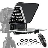 Desview T3 Teleprompter, iPad-Smartphone-Kamera-DSLR-Teleprompter, Fernbedienung Weitwinkelobjektiv...
