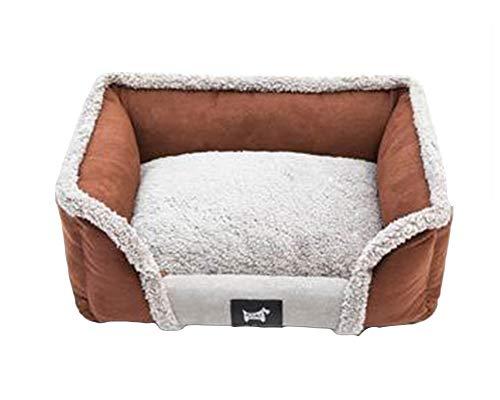 GUOCU Dog Bed Pet Bed Eases Pet Arthritis Hip Dysplasia Pain, Washable Quality Large Memory Foam High Elasticity Slow Rebound Soft Warm Dog Cuddler Bed,Brown,XL