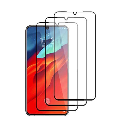 "Henxunton LenovoZ6Pro 6.39"" Protector Pantalla, [Negro-3 Piezas] [Cobertura Completa] Vidrio Templado Alta Definicion Cristal [Sin Burbujas] para LenovoZ6Pro Smartphone"