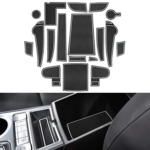 YEE PIN Gummimatten Kona Elektro(My 2020+) Zubehör Innenraum Antirutschmatte für Wasserbecher Aufbewahrungsbox Autoinnenausstattung