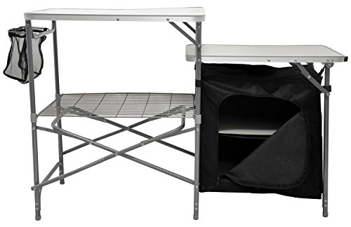 Andes Camping Field Kitchen Worktop Table Stand With Cupboard